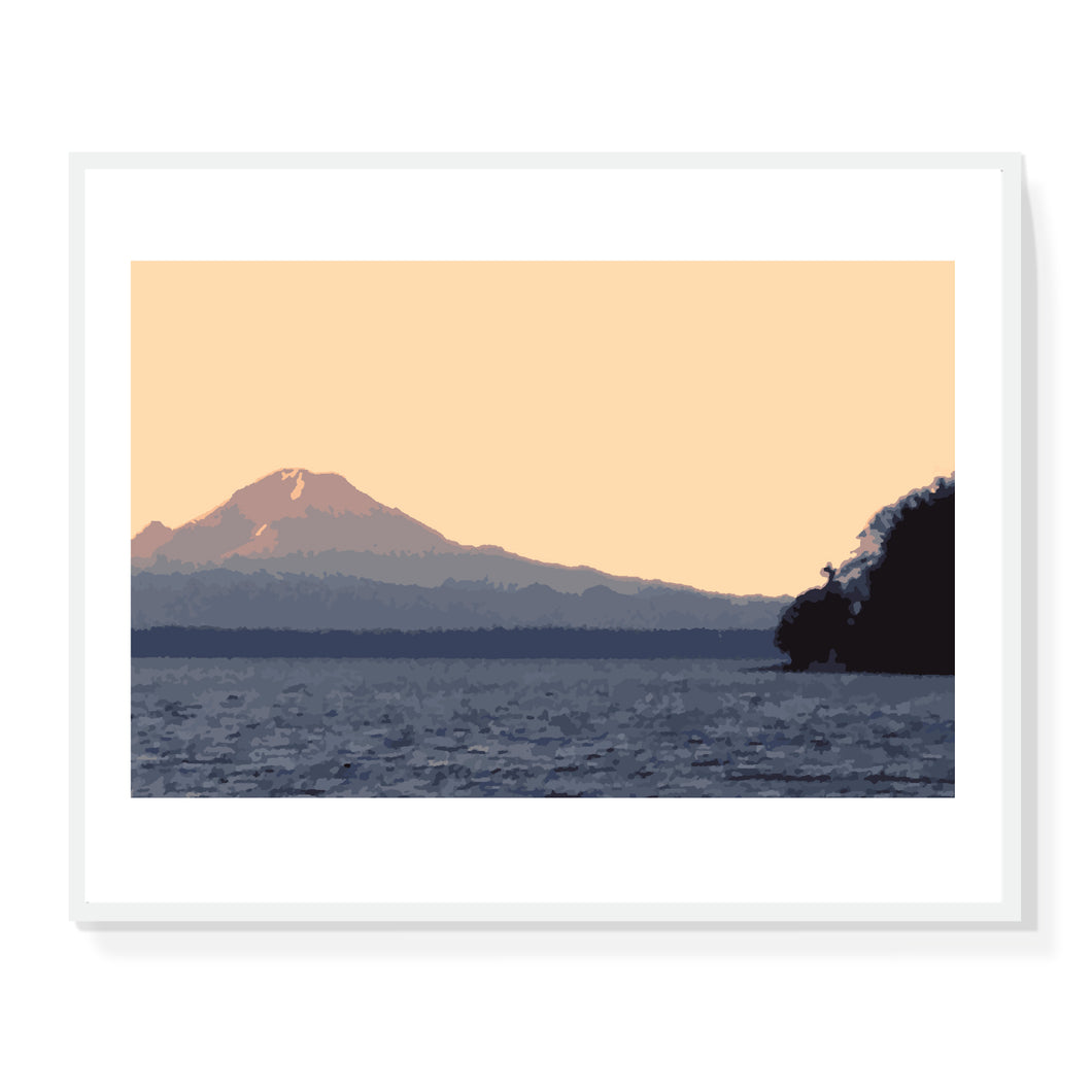 Mt Rainier 1 Colorfield Print - Limited Edition