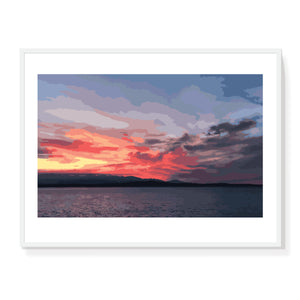 Olympic Sunset Burst Limited Edition Print