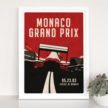 Load image into Gallery viewer, Retro Monaco GP Formula 1 Inspired Graphic Poster