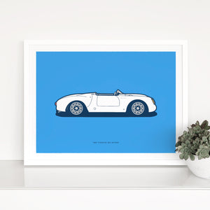1960 Porsche 550A Spyder on French Blue