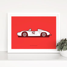 Load image into Gallery viewer, 1960 Porsche 718 RS60 on Red
