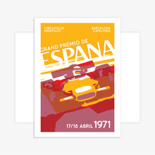 Load image into Gallery viewer, Retro Spanish Grand Prix Inspired Racing Poster