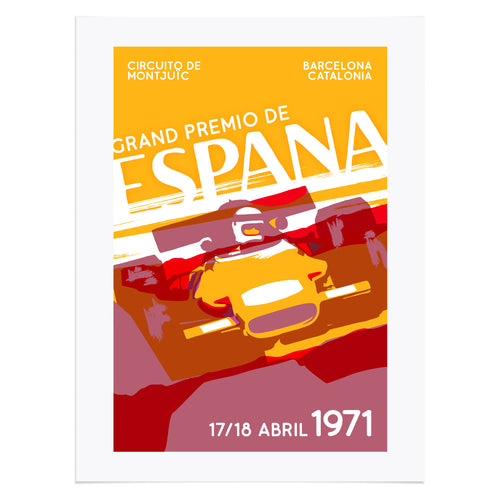 Retro Spanish Grand Prix Inspired Racing Poster