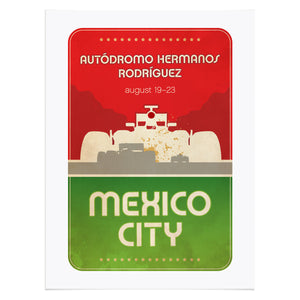 Mexico City Formula 1 Graphic Poster