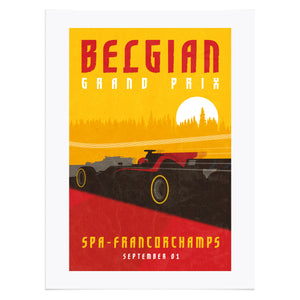 Belgian Grand Prix at Formula 1 Inspired Graphic Poster