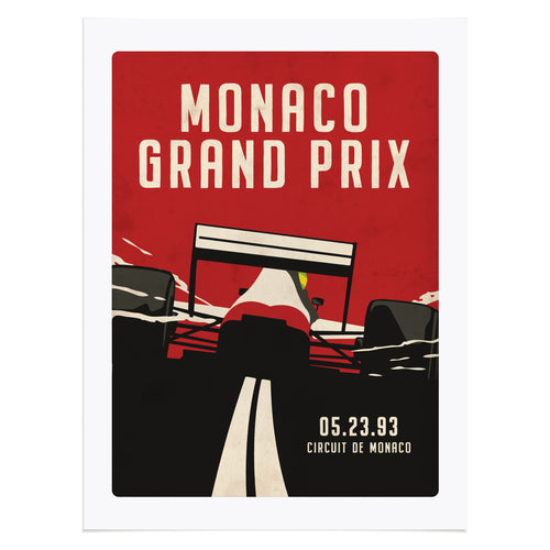 Retro Monaco GP Formula 1 Inspired Graphic Poster