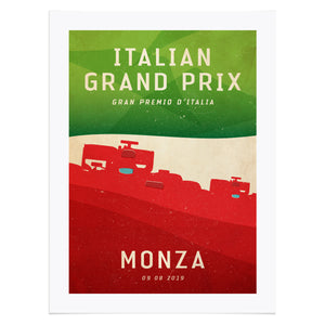 Italian GP Formula 1 at Monza Inspired Graphic Poster
