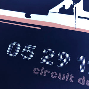 Monaco Grand Prix Formula 1 Inspired Graphic Poster