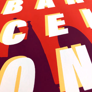 Barcelona Formula 1 Inspired Graphic Poster