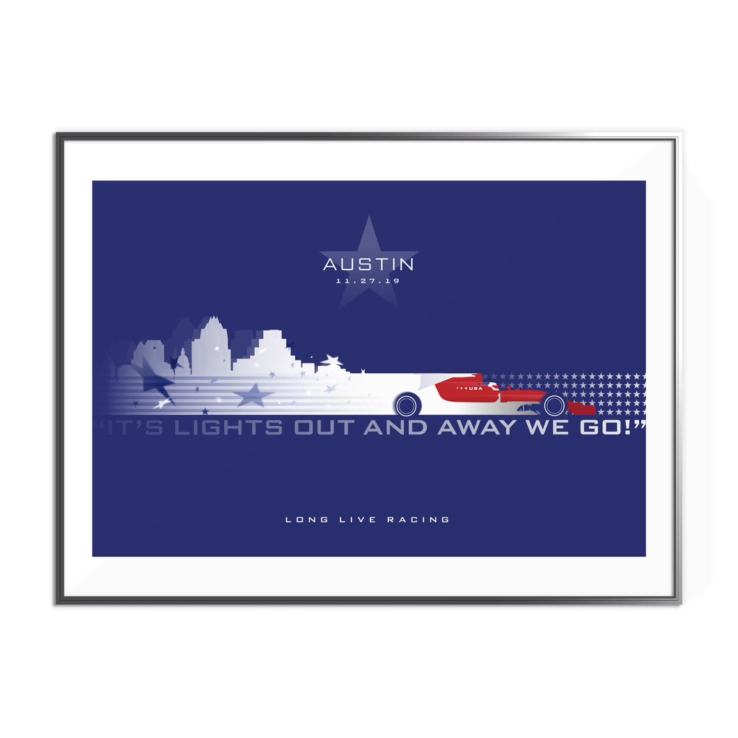 US Grand Prix at Austin Formula 1 Inspired Graphic Poster