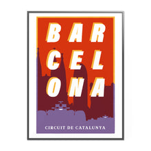 Load image into Gallery viewer, Barcelona Formula 1 Inspired Graphic Poster