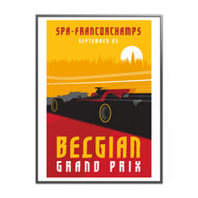 Load image into Gallery viewer, Belgian Grand Prix at Formula 1 Inspired Graphic Poster