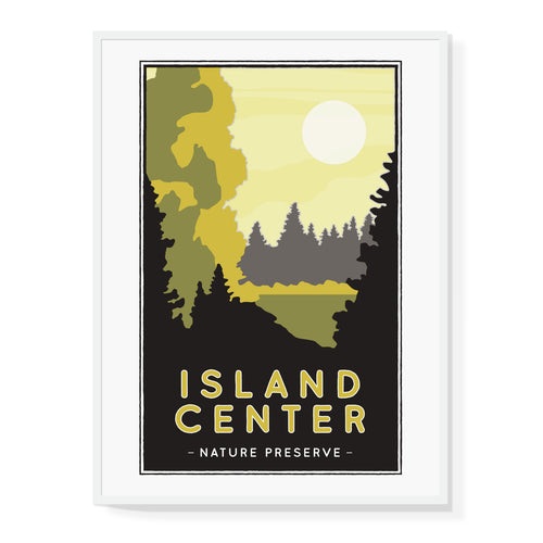 Center Island Nature Preserve Illustrated Poster