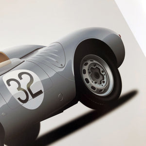 1958 Porsche 550A on Light Grey