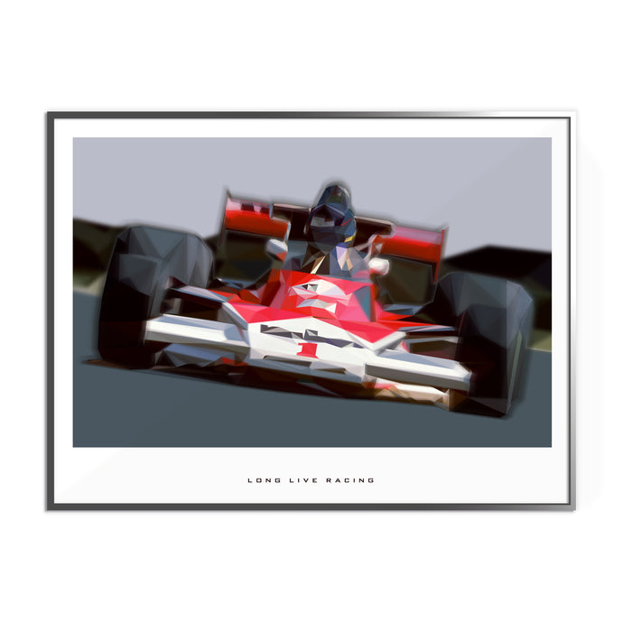 Long Live Racing Formula 1 Inspired Graphic Poster
