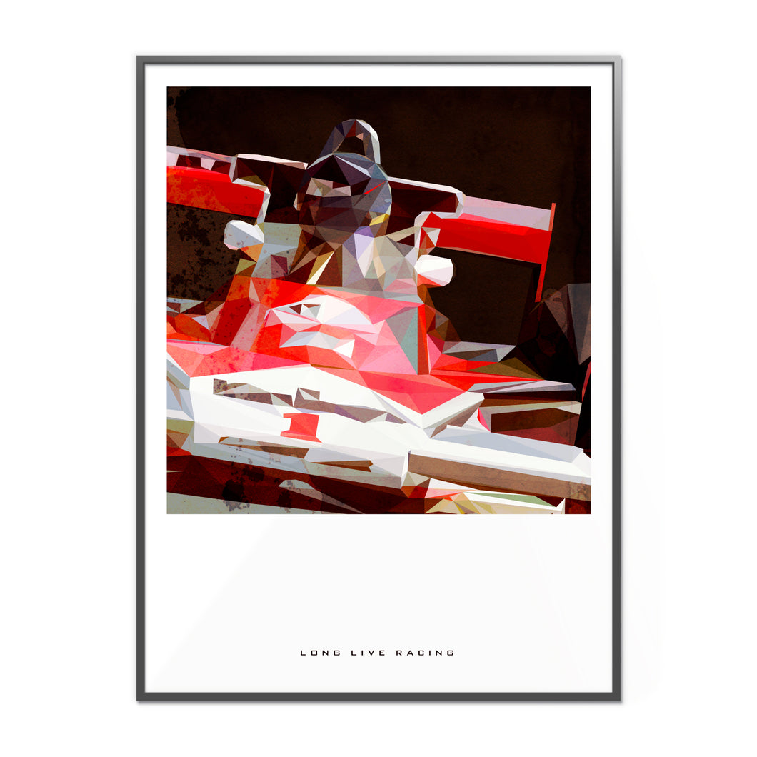 Long Live Racing Formula 1 Inspired Graphic Poster 2