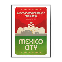 Load image into Gallery viewer, Mexico City Formula 1 Graphic Poster