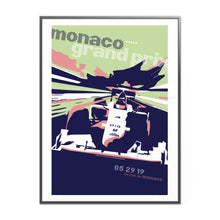 Load image into Gallery viewer, Monaco Grand Prix Formula 1 Inspired Graphic Poster