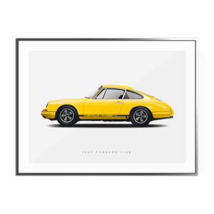 1967 Porsche 911R in Yellow