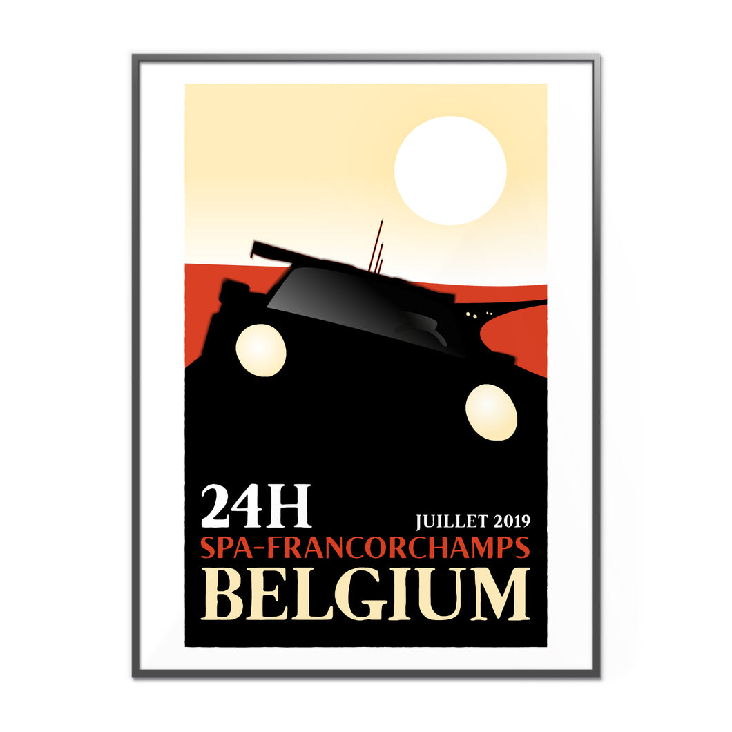 SPA Francorchamps Inspired Graphic Poster