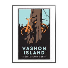 Load image into Gallery viewer, Vashon Island Bicycle Tree Illustrated Poster