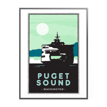 Load image into Gallery viewer, Puget Sound Ferry illustrated Poster