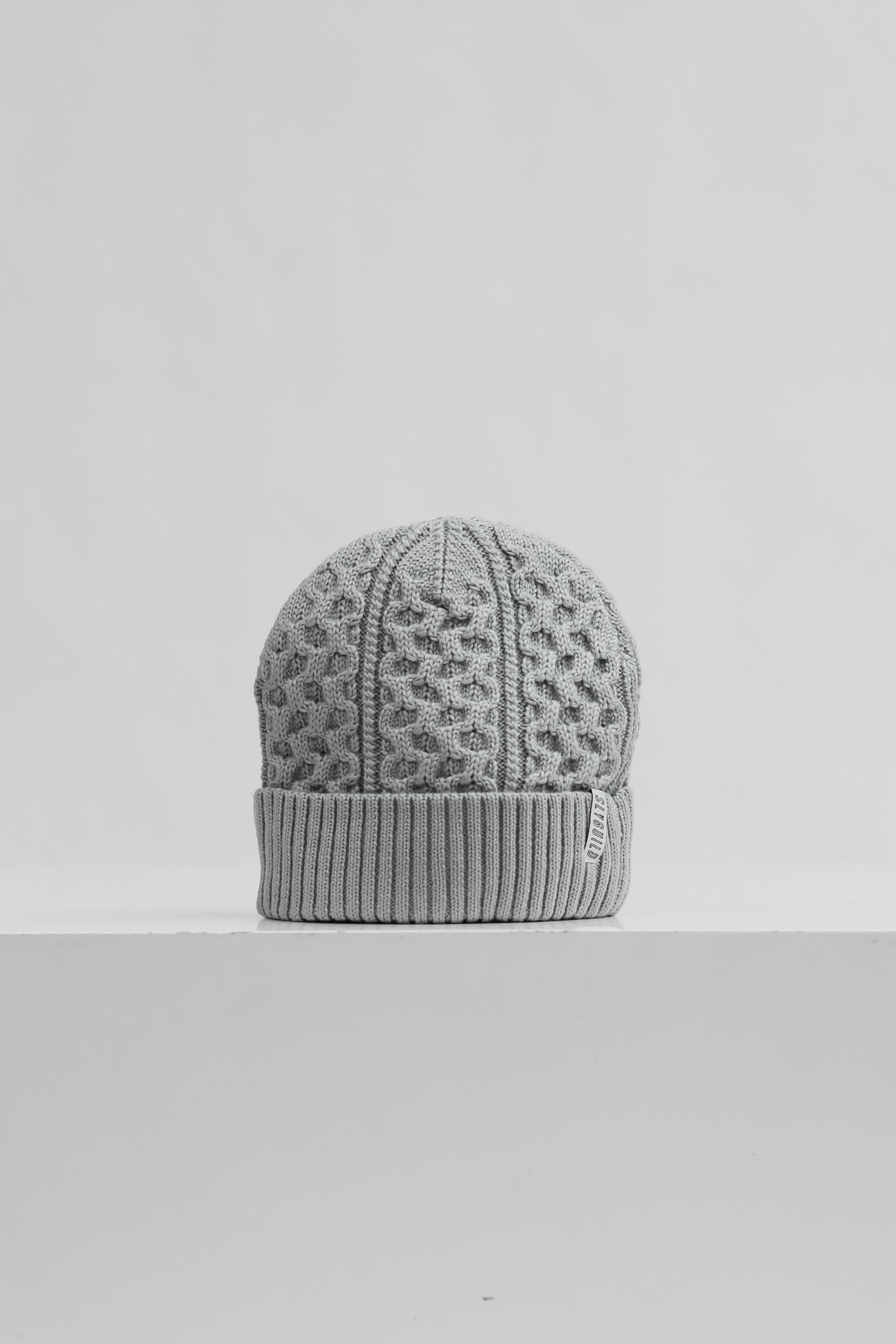 Sly Guild Grey Cable knit beanie - Winter