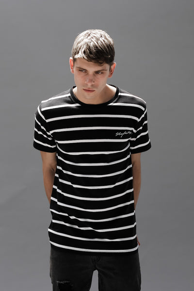Black and white stripped t shirt