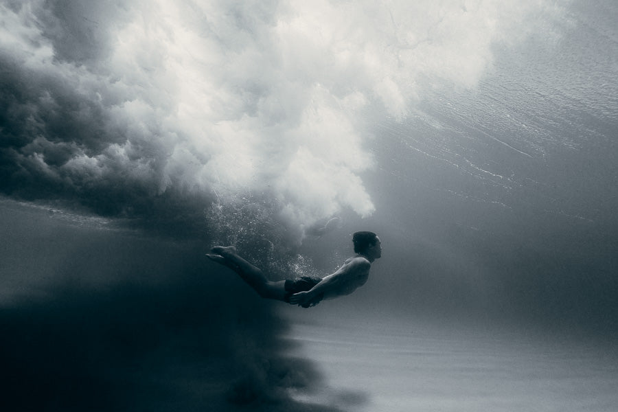 Mark clinton | Man under wave sydney