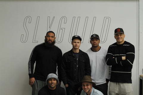 All Blacks before there game at SG HQ