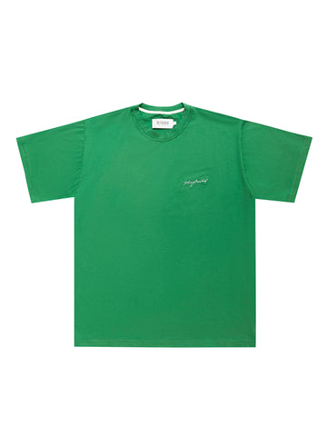 GREEN EMB SIGNATURE T-SHIRT