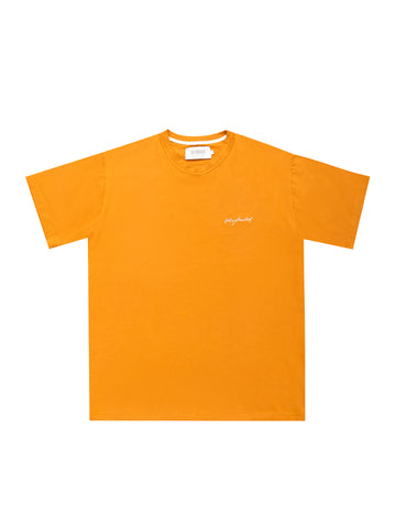 BURNT ORANGE EMB SIGNATURE T-SHIRT