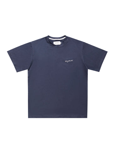 NAVY EMB SIGNATURE T-SHIRT