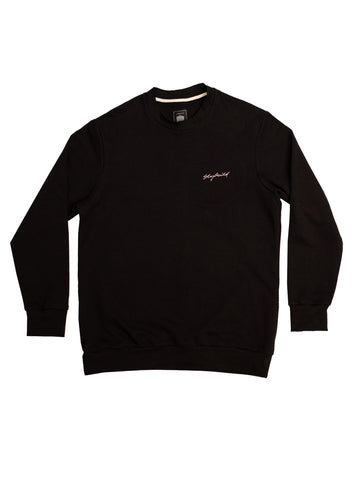 Mens Black Crew Neck