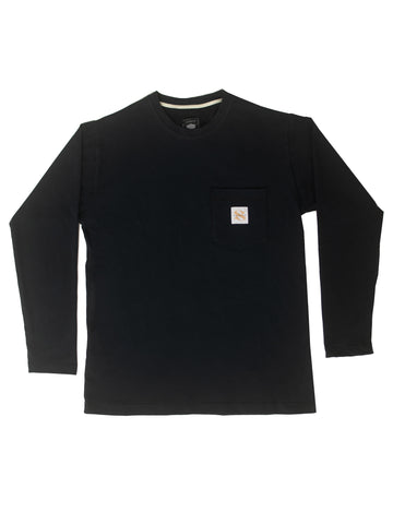 Black Washed Workers Long Sleeve