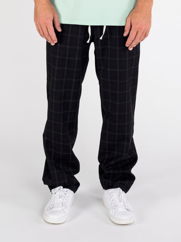 Black Plaid Lester Pant