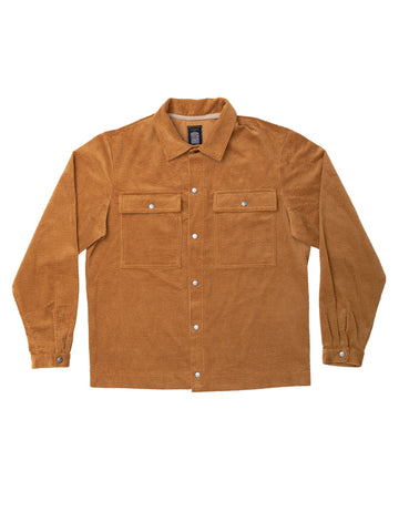 Camel Cord Over Shirt