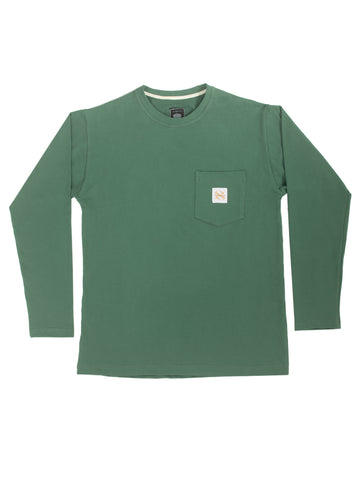 Bottle Green Washed Workers Long Sleeve