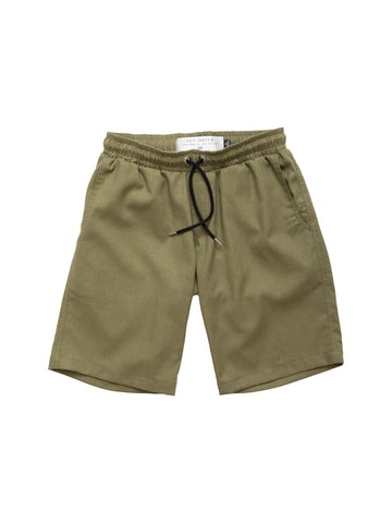 Khaki Green Linen Port Short