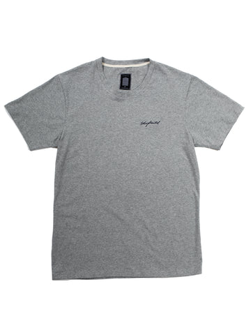GREY MALE EMB SIGNATURE T-SHIRT