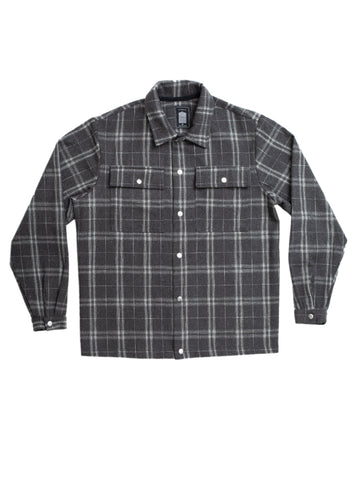 Grey Plaid Over Shirt