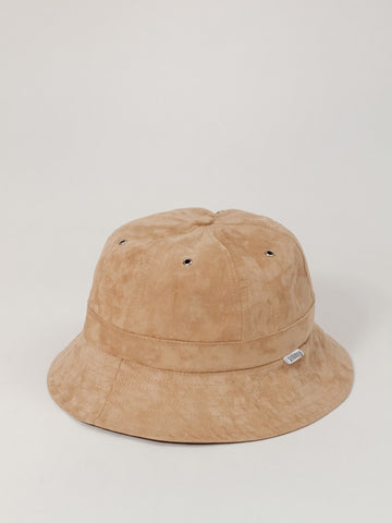 Tan Suede 6 Panel Bucket