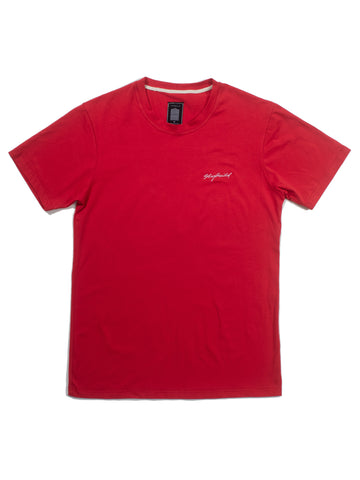 RED EMB SIGNATURE TSHIRT