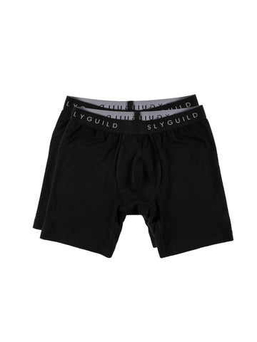 2 Pack Black Boxer Briefs
