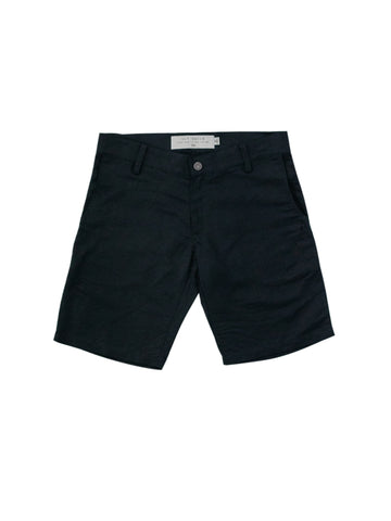Black Linen Port Short
