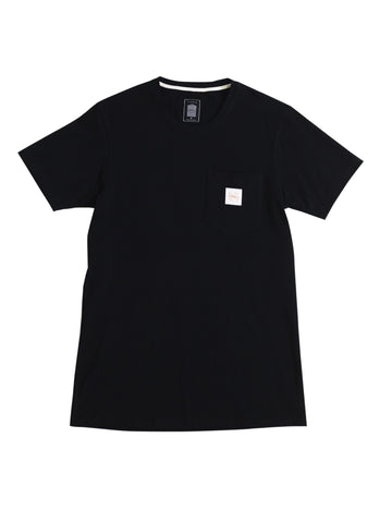 Black Basic Pocket Tee