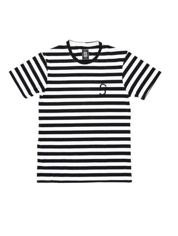 Black Thick Stripe Rife Marco Tee