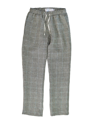 Houndstooth Linen Lester Pant