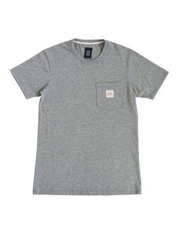 Grey Marle Basic Pocket Tee