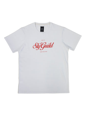 White Crest Printed Tee